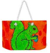 Andy's Squirrel Green Weekender Tote Bag