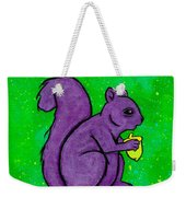 Andy's Squirrel Purple Weekender Tote Bag