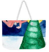 Angel And Christmas Tree Weekender Tote Bag