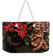 Angel And Poinsettia Weekender Tote Bag