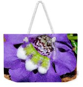 Angel Face Blue - With Extra Petals And 3 Stamen Weekender Tote Bag