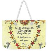 Angel Fraktur Painting Weekender Tote Bag