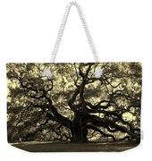 Angel Oak Tree Sepia Weekender Tote Bag