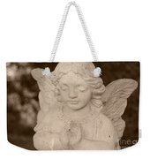 Angel Sepia Weekender Tote Bag