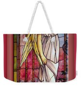 Angel Stained Glass Window Weekender Tote Bag by Thomas Woolworth