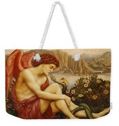 Angel With Serpent Weekender Tote Bag by Evelyn De Morgan
