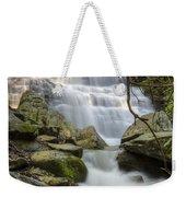 Angels At Benton Waterfall Weekender Tote Bag by Debra and Dave Vanderlaan