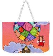 Angels With Hot Air Balloon Weekender Tote Bag by Sarah Batalka