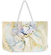Angle With Dove Photoart Weekender Tote Bag