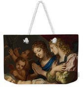 Angles Adoring The Sleeping Christ Weekender Tote Bag