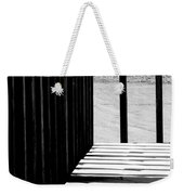 Angles And Shadows - Black And White Weekender Tote Bag