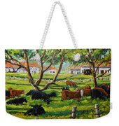 Angus Cows Under The Cool Shade By Prankearts Weekender Tote Bag