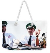 Anheuser Busch Budweiser Clydesdale Drivers And Mascot Usa Rodeo Weekender Tote Bag