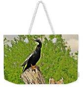 Anhinga Bird On Stump Weekender Tote Bag