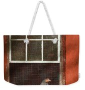 Animal - Bird - Chicken In A Window Weekender Tote Bag