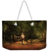 Animal - Dog - A Man And His Best Friend Weekender Tote Bag