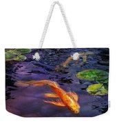 Animal - Fish - There's Something About Koi  Weekender Tote Bag by Mike Savad