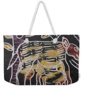 Animal In The Bush Feeds Young One. Weekender Tote Bag