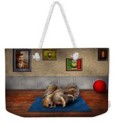 Animal - Squirrel - And Stretch Two Three Four Weekender Tote Bag by Mike Savad