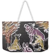 Animals Hold Their Monthly Meeting In The Bush. Weekender Tote Bag