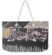 Animals Pose In The Remote Village. Weekender Tote Bag