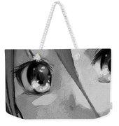 Anime Girl Eyes Black And White Weekender Tote Bag
