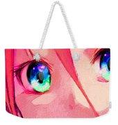 Anime Girl Eyes Red Weekender Tote Bag