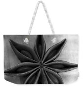Anise Star Single Text Distressed Black And Wite Weekender Tote Bag