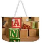 Ann - Alphabet Blocks Weekender Tote Bag