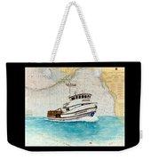 Ann Kathleen Crab Fishing Boat Nautical Chart Map Art Weekender Tote Bag