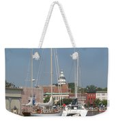 Annapolis Harbor Alongside Dock Street Weekender Tote Bag