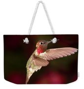 Anna's Hummingbird And The Roses Weekender Tote Bag