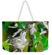 Annas Hummingbirds At Nest Weekender Tote Bag