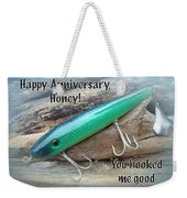 Anniversary Greeting Card - Saltwater Lure Weekender Tote Bag