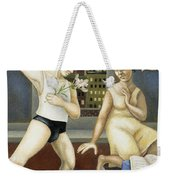 Annunciation With Yellow Dress Weekender Tote Bag