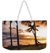 Another Maui Sunset - Pastel Weekender Tote Bag