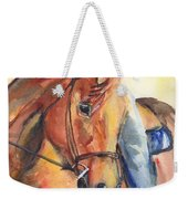 Horse In Watercolor Another Sunrise Weekender Tote Bag