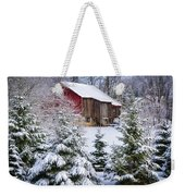Another Wintry Barn Weekender Tote Bag