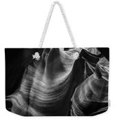 Antelope Canyon Waves Black And White Weekender Tote Bag