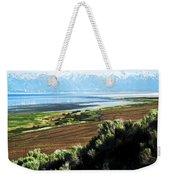 Antelope Island Wasatch Mountains Utah Weekender Tote Bag