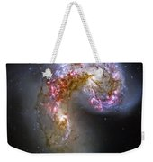 Antennae Galaxies Collide 1 Weekender Tote Bag by Jennifer Rondinelli Reilly - Fine Art Photography