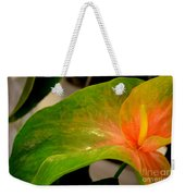 Anthurium In Red And Green Weekender Tote Bag