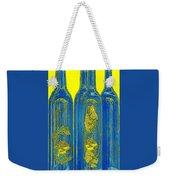 Antibes Blue Bottles Weekender Tote Bag by Ben and Raisa Gertsberg