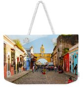 Antigua Guatemala Clock Weekender Tote Bag