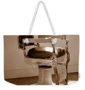 Antiquated Barber Chair In Sepia Weekender Tote Bag