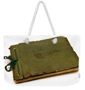 Antique Autograph Book Weekender Tote Bag