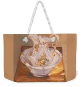Antique Pitcher And Bowl Weekender Tote Bag