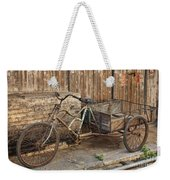 Antique Bicycle In The Town Of Daxu Weekender Tote Bag