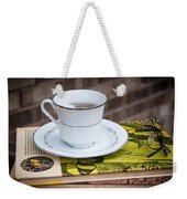 Antique Books And Tea Weekender Tote Bag