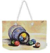 Antique Bottle With Marbles Weekender Tote Bag